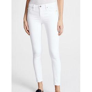NWOT AG The Legging Ankle white jeans